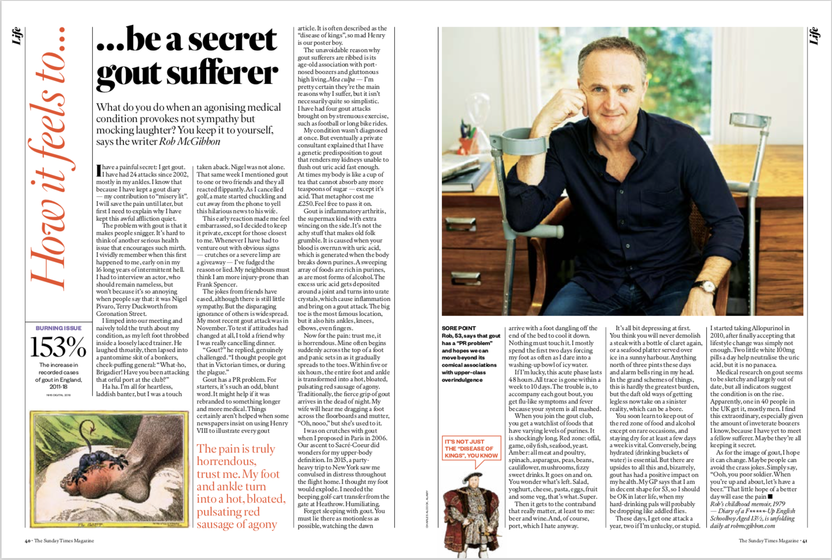 7e3090bd7 How it feels to… be a secret gout sufferer. The Sunday Times Magazine